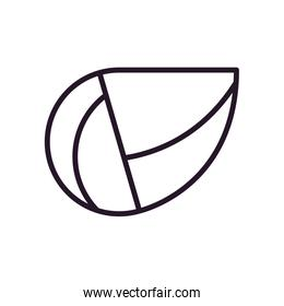 Abstract leaf shape line style icon vector design