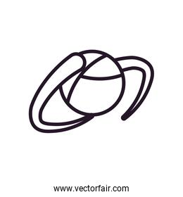 Abstract sphere shape line style icon vector design