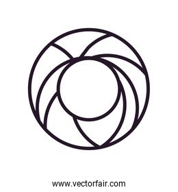 Abstract circle shape line style icon vector design