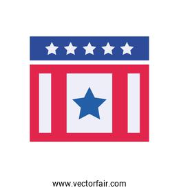 Usa rectangle with stars flat style icon vector design