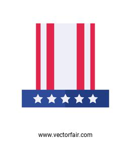 Usa flag hat flat style icon vector design