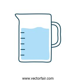 water jar flat style icon vector