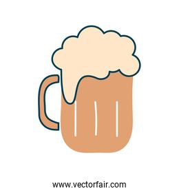 Glass of beer flat style icon vector design