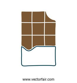 Chocolate bar flat style icon vector design