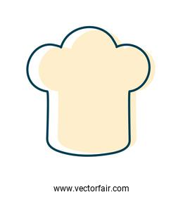 chefs hat flat style icon vector design