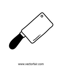 Knife silhouette style icon vector design