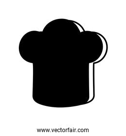chefs hat silhouette style icon vector design