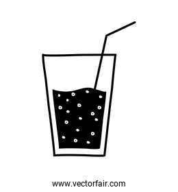 smoothie mug drink silhouette style icon vector design