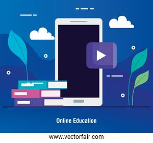 education online technology by smartphone