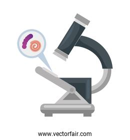 microscope with microorganisms isolated icon