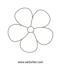 flower decoration isolated icon white background linear design
