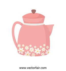 kettle maker coffee or tea isolated icon white background