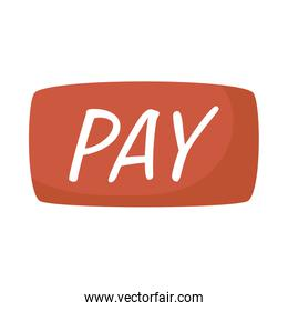 pay button ecommerce isolated icon