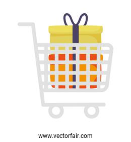 shopping cart marketing with gifts