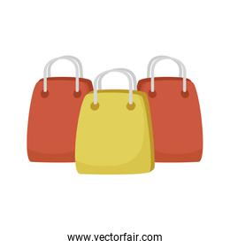 shopping bags handle isolated icons