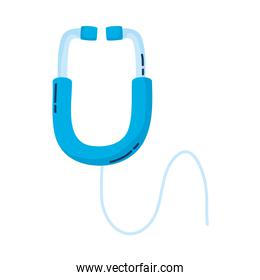 stethoscope medical accessory isolated icon