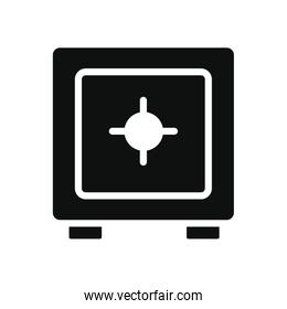 strongbox icon, silhouette style