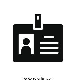 ID card icon, silhouette style