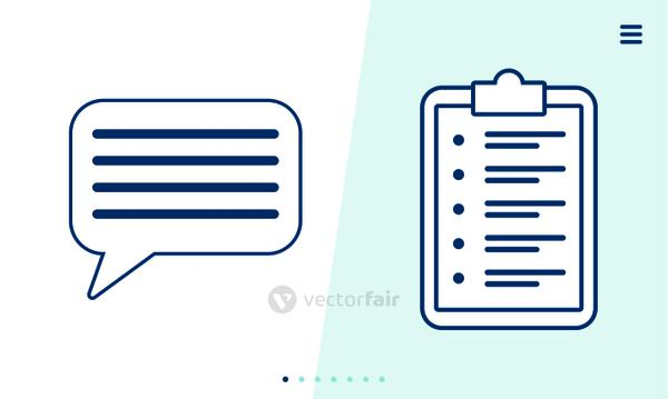 checklist clipboar document with speech bubble