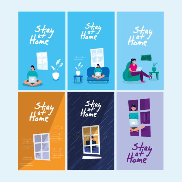 stay at home campaign set scenes