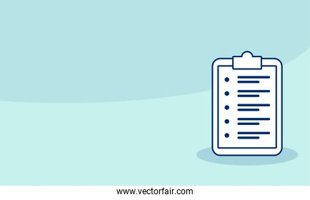 checklist clipboar document isolated icon