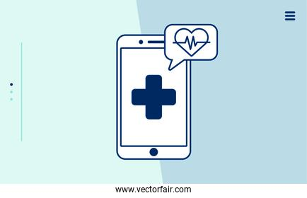 smartphone with telemedicine technology icons