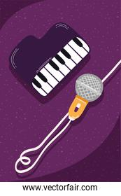 piano musical instrument and microphone