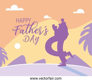man and son, card of the happy father day
