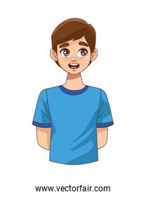 happy young boy teenager character