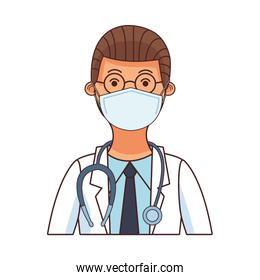 doctor worker profession using face mask