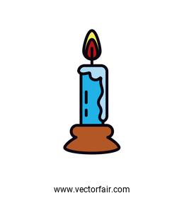 candle icon, line and fill style