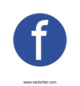 facebook flat style icon vector design