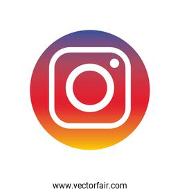 instagram flat style icon vector design