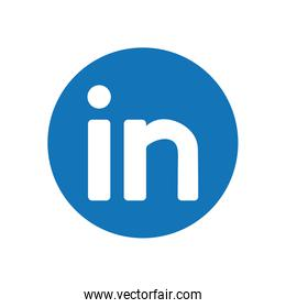 linkedin flat style icon vector design