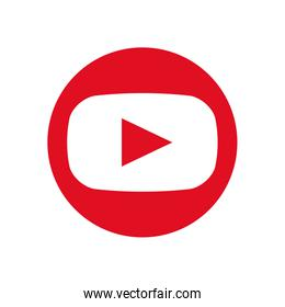 youtube flat style icon vector design