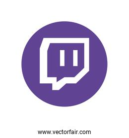 twitch flat style icon vector design