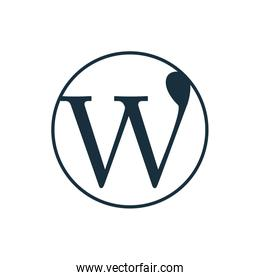 word press flat style icon vector design