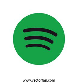 spotify flat style icon vector design