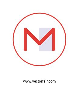 gmail flat style icon vector design