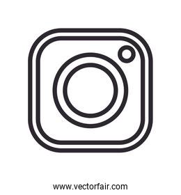 instagram line style icon vector design