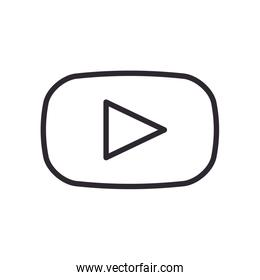 youtube line style icon vector design