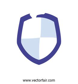 Shield flat style icon vector design