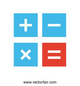 Isolated calculator tool flat style icon vector illustration