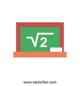 square root of two on board flat style icon vector design