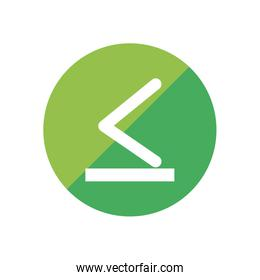 less than or equal to flat style icon vector design