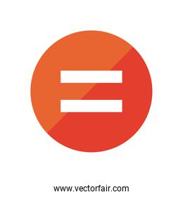 equality flat style icon vector design