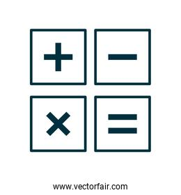 Isolated calculator tool line style icon vector design