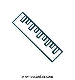 Ruler instrument line style icon vector design