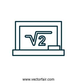 square root of two on board line style icon vector design