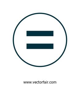 equality line style icon vector design